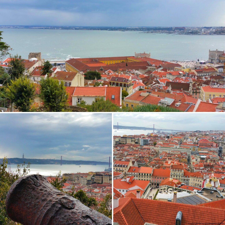 Lisbonne sous un ciel gris
