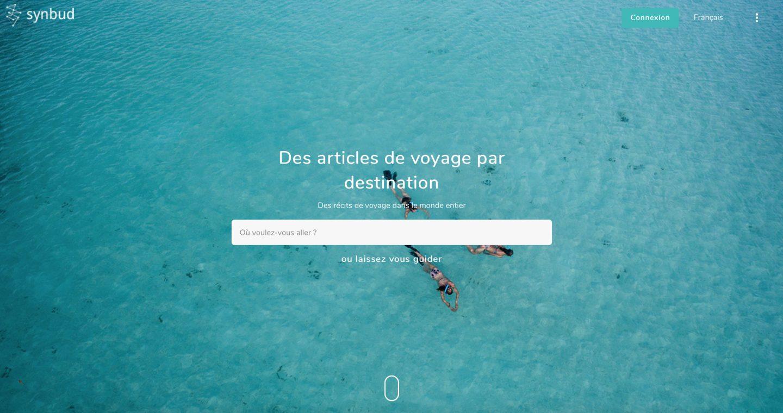 Synbud, une plateforme de partage de voyages