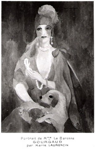 Portrait de Madame la Baronne Gourgaud par Marie Laurencin